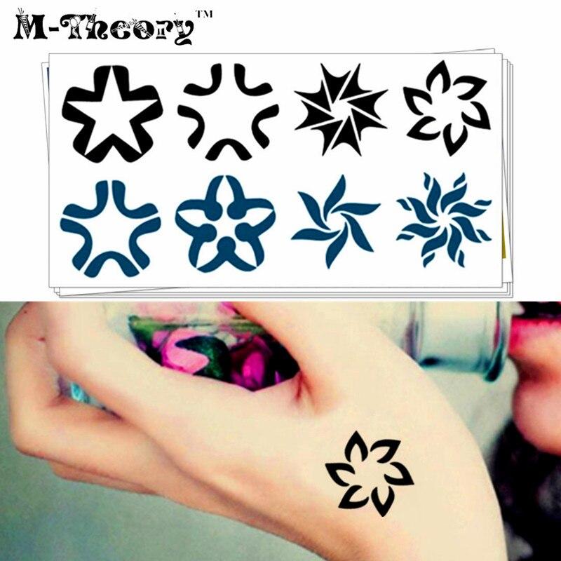 Tatuaje M ₩m-teoría temporal gargantilla cosmética 3d tatuajes pequeño nieve