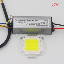100% Epistar LEDs AC 110V 220V Full Watt 10W 20W 30W 50W 100W COB LED Chip Matrix Project Flood Light Source with LED Driver