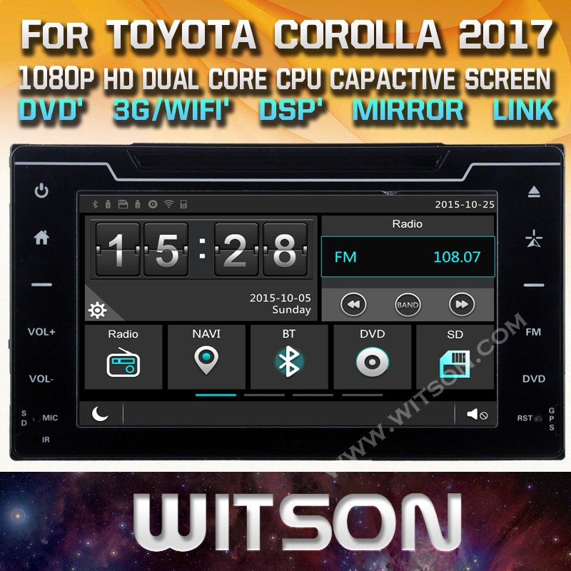 WITSON factory price!! car dvd for TOYOTA COROLLA AURIS 2017 GPS NAVIGATION  AUTO RADIO +Mirror Link