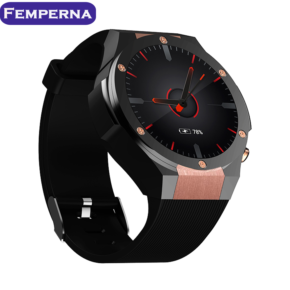 Femperna H2 Android 5.1 MTK6580 1GB 16GB Heart Rate Smart Watch Clock  With GPS Wifi 5MP Camera Smartwatch For Android iOS Phone