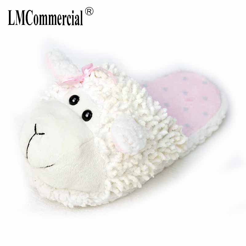 Lovers Warm Woman Slippers Winter Plush Home Floor Shoes House Children fur slippers Women Anime Cartoon