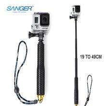 СЭНГЕР для Accessories19 Дюймов 49 см Телескопический Ручной Селфи Придерживайтесь Монопод Стержень для Xiaomi Yi Камеры Go pro Hero 5 4 3 + Sjcam