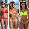 2016 Hot Sale New NEOPRENE BIKINI Set Superfly Swimsuit Top Neon Bottoms Neoprene Swimwear For Women