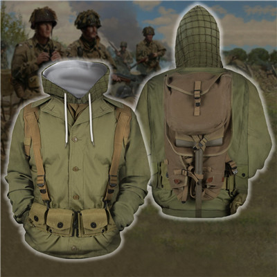 Men Women Historical Army Uniforms Hoodie Cosplay Sweatshirt Halloween Costume