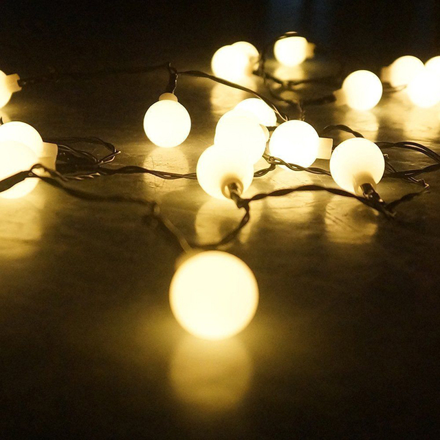 20/30/50 LEDs Warm White Globe String Lights Outdoor Christmas Party Xmas  Patio