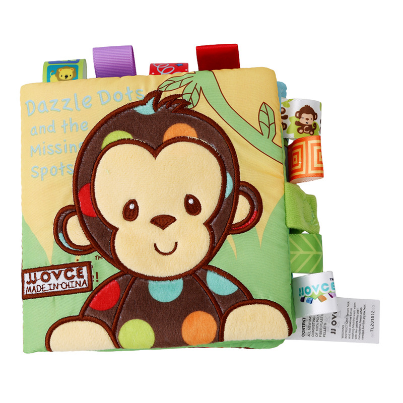 Baby Rattles Mobiles Toy Animal Style Monkey Dog Cloth Book Newborn Stroller Hanging Toy Bebe Early Learning Educate Baby Toys in Baby Rattles Mobiles from Toys Hobbies