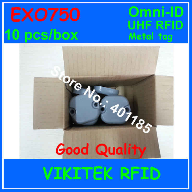 Omni-ID Exo 750 UHF RFID  metal tag 10 pcs per box 915M EPC C1G2 ISO18000-6C Exo750 Logistics Postal Manufacturing tote tracking lone wolf and cub omni vol 6