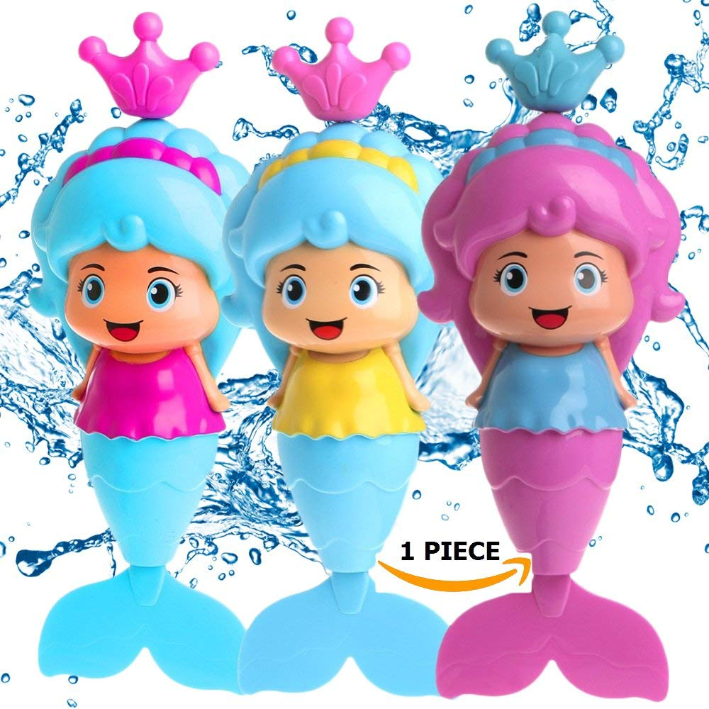 1Pcs Bath Toys for Toddlers Kids Mermaid Wind Up Floating ...