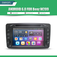 Android 6.0 Car DVD Player Radio WIFI BT For Mercedes Benz C-Class W203 CLK W209 Viano Vito W638s GPS Navigation EW825P6QH