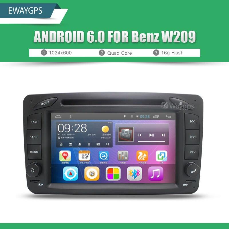 imágenes para Android 6.0 Coches Reproductor de DVD de Radio WIFI BT Para Mercedes Benz C-class W203 Viano Vito CLK W209 W638s GPS de Navegación EW825P6QH