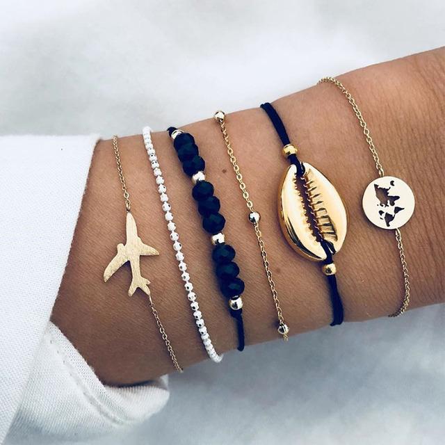 Golden Wave Boho Bracelet Set