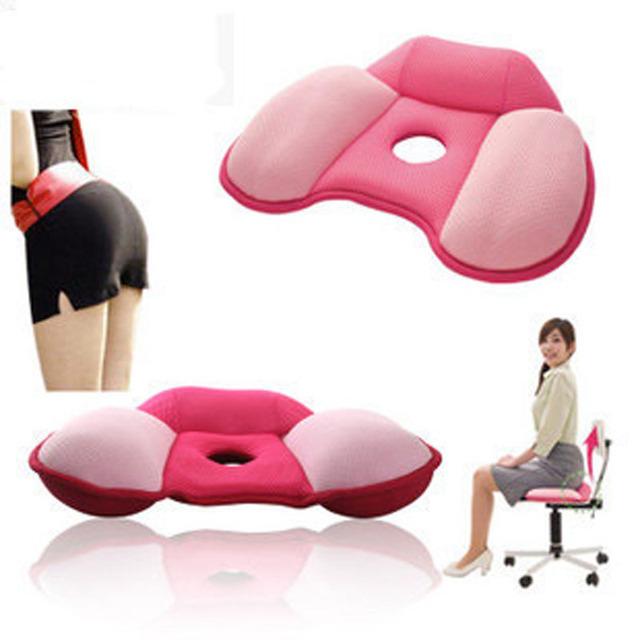 Cuerpo esbelto compresión caderas push up home oficina del asiento de coche cojín de la nalga masajeador almohada rebotado suave de algodón yoga pad