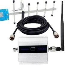 Lcd scherm Mini Gsm Repeater 900Mhz Mobiele Mobiele Telefoon Gsm 900 Signaalversterker Versterker + Yagi Antenne Met 10M Kabel