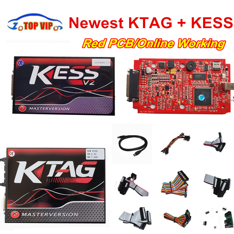 Unlimited Token EU Red KESS V2 V5.017 OBD2 Manager Tuning Kit KESS 5.017+Online Red KTAG V7.020 K-TAG 7.020 ECU Programming Tool full window trim decoration strips stainless steel car styling accessories for opel mokka 2012 2013 2014 2015 oem 8 16 24