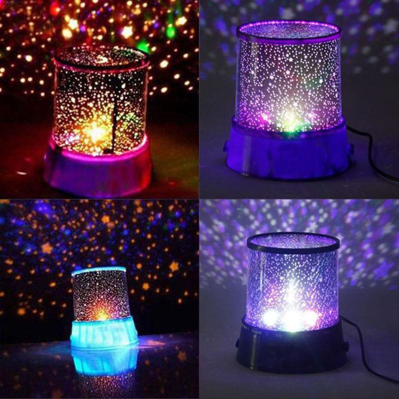 Romantic Colorful star master Atmosphere Light star sky projector Night Light Cosmos Lamp Christmas birthday Gift Present