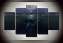 Unframed Printed monster unter dem meer 5 stück malerei wandkunst bedrom decor poster leinwand Freies verschiffen