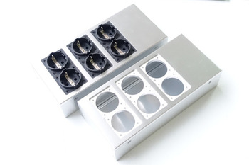 Full aluminum HIFI EU power case European standard power socket chassis HiFi DIY box