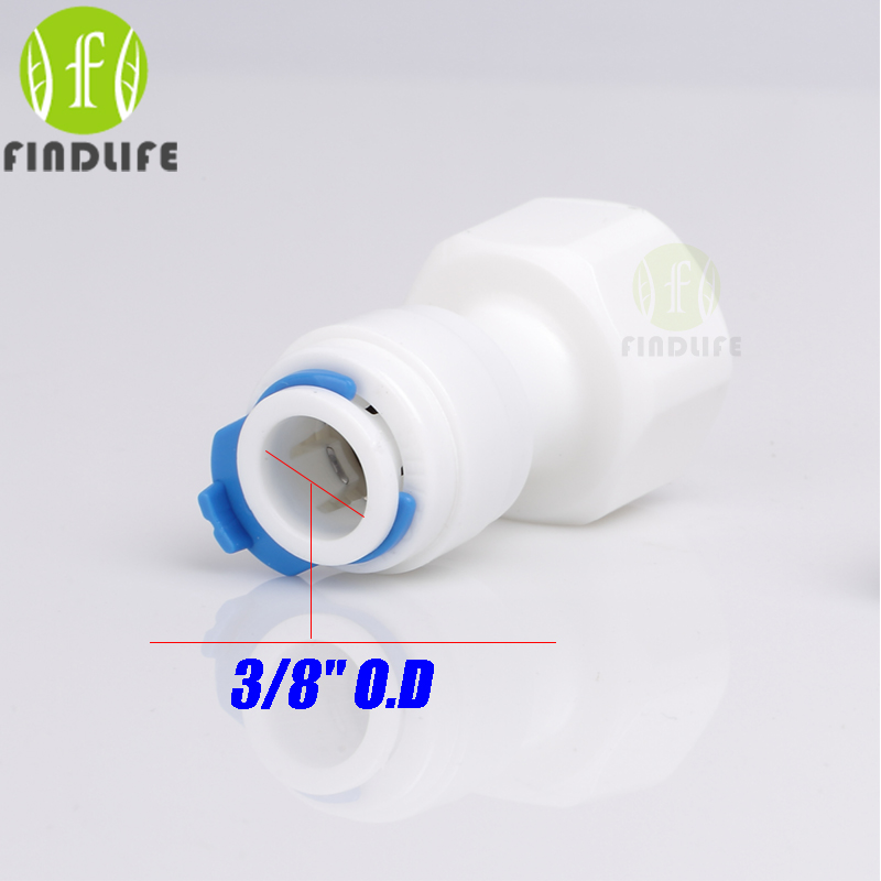 10x 1//4 inch OD Tube 1//2 inch Female Straight Quick Connect Filter RO Water