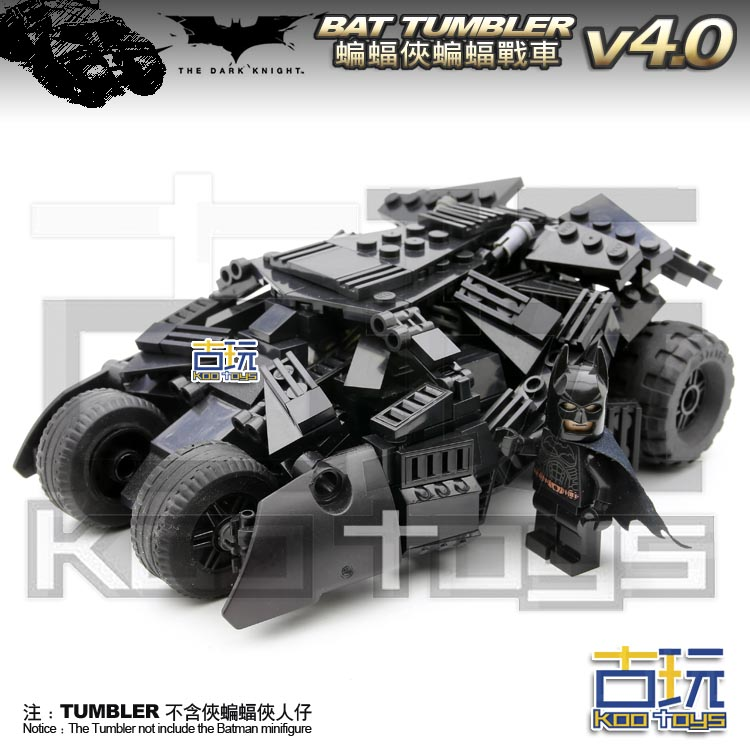 MOC 335pcs BATMAN Movie BatMobile v4.0 Tumbler Super Heroes Action Figure Building Blocks Kids Toys -NOT INCLUDE MINIFIG moc 1128pcs the batman movie bane s nuclear boom truck super heroes building blocks bricks kids toys gifts not include minifig