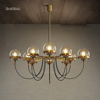 5/8/10 lights Nordic Glass Ball Bronze Chandeliers Modern Designer chandelier Lighting for Restaurant living room Black lustre
