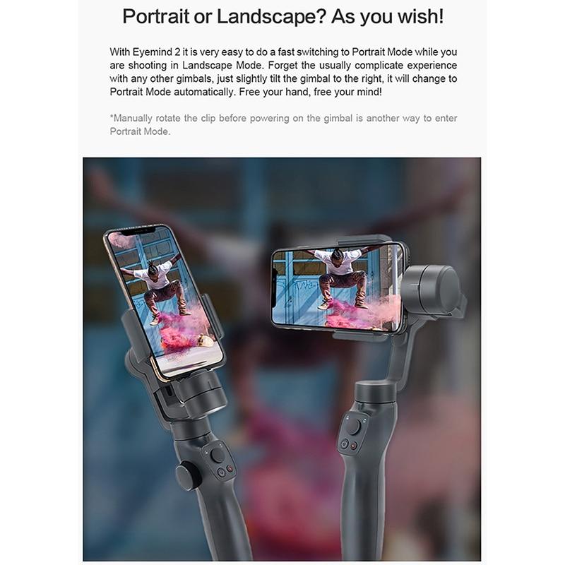 ZHIYUN Liscia Q2 Handheld Gimbal Portatile Pocket Size 3 Assi Smartphone per il iPhone 11 Pro Max XS X Samsung s10 S9 PK DJI Osmo 3 - 4