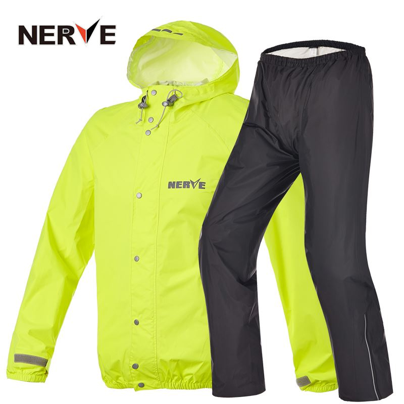 Brand NERVE Motorcycle Riding Breathable Raincoat and Pants for Men and Women Free Shipping Summer Waterproof Suit Rain Coat benkia motorcycle rain coat two piece raincoat suit riding rain gear outdoor men women camping fishing rain gear poncho