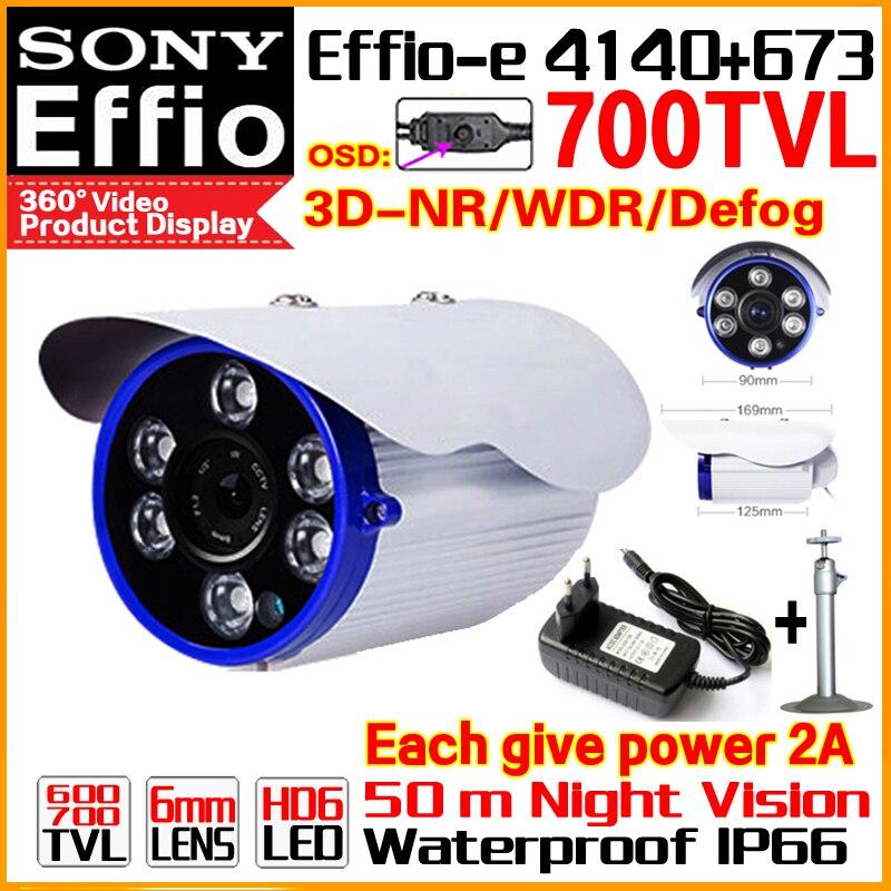 Discount 1/3Sony CCD Real 700TVL Effio-E Surveillance Cctv Hd Cameras OSD Meun WDR Waterproof IP66 Array Night Vision 50m Video