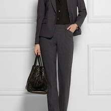 Office Lady Suit Set 2 Pieces Blazer with Trousers Formal
