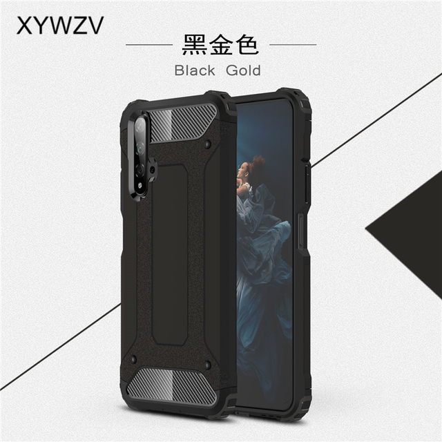 For Huawei Honor 20 Case Shockproof Soft Silicone Armor Rubber Hard PC Phone Case For Huawei Honor 20 Back Cover For Honor 20