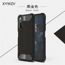 Huawei Onur için 20 Durumda Darbeye Yumuşak Silikon Zırh Kauçuk Sert pc telefon kılıfı Için Huawei Onur 20 arka kapak Onur 20