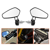 2PCS Lot Retro Universal Motorcycle Billet Aluminum Mirror Rearview ATV Rear View Bar End Mirrors Fit