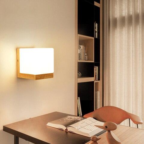 dx luzes de parede madeira moderna