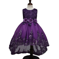 2017 Top New Quality Princess Dress For Little Girl Long Dresses Sequins Ceremonies Wedding Gown Dress
