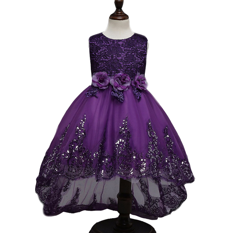Girls dresses for party and wedding Princess dresses for children graduation gowns ball gowns girls vestido