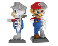 LOZ 7807 Japanese Anime Skeleton Series Super Mario Creator Magic Diamond Blocks 1686Pcs Building Blocks Toys Gift For Children