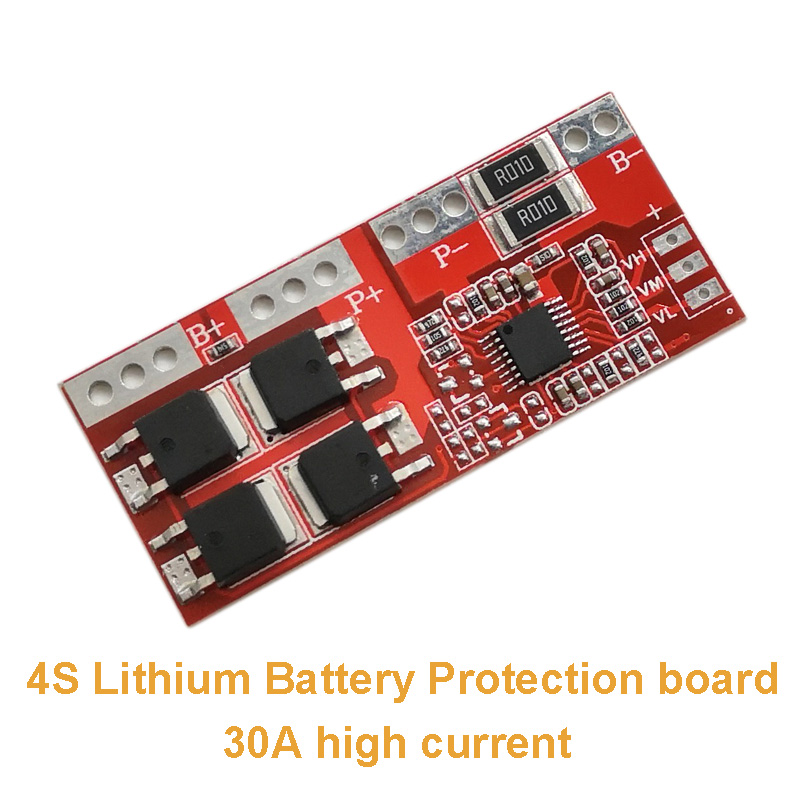 2pcs/lot 4S Lithium Battery Protection Board 30A High Current