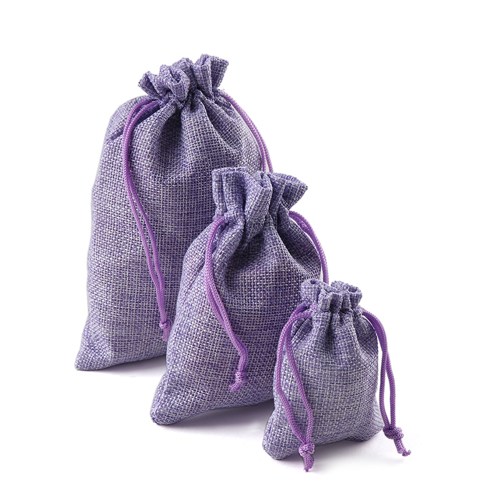 Image 2 - 10PCS Christmas Linen Jute Drawstring Gift Bags Sacks Wedding Birthday Party Favors Drawstring Gift Bags Baby Shower Supplies-in Gift Bags & Wrapping Supplies from Home & Garden