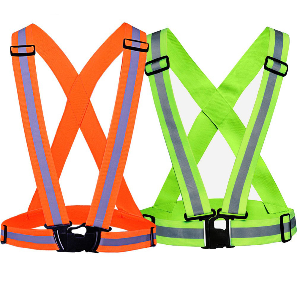 High visibility Security Reflective jacket Adjustable Safety Vest Reflective Vest Belt For Women Girls Night Running Jogging