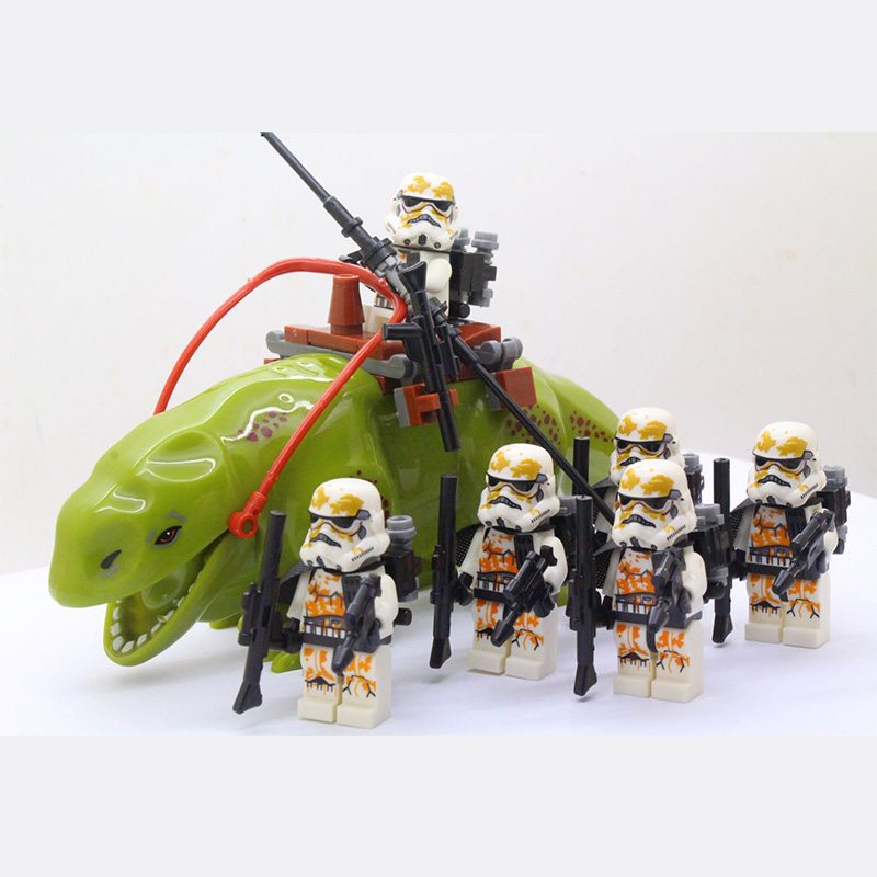 HOT Star Wars Army Figures Building Blocks Clone Trooper Humid Beast Weapon Figure Model Building Blocks Toys For Children Gifts