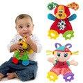 Novo Infantil Bonito Brinquedo de Pelúcia Conforto Toalha com Papel de Som e Mordedor Bebê