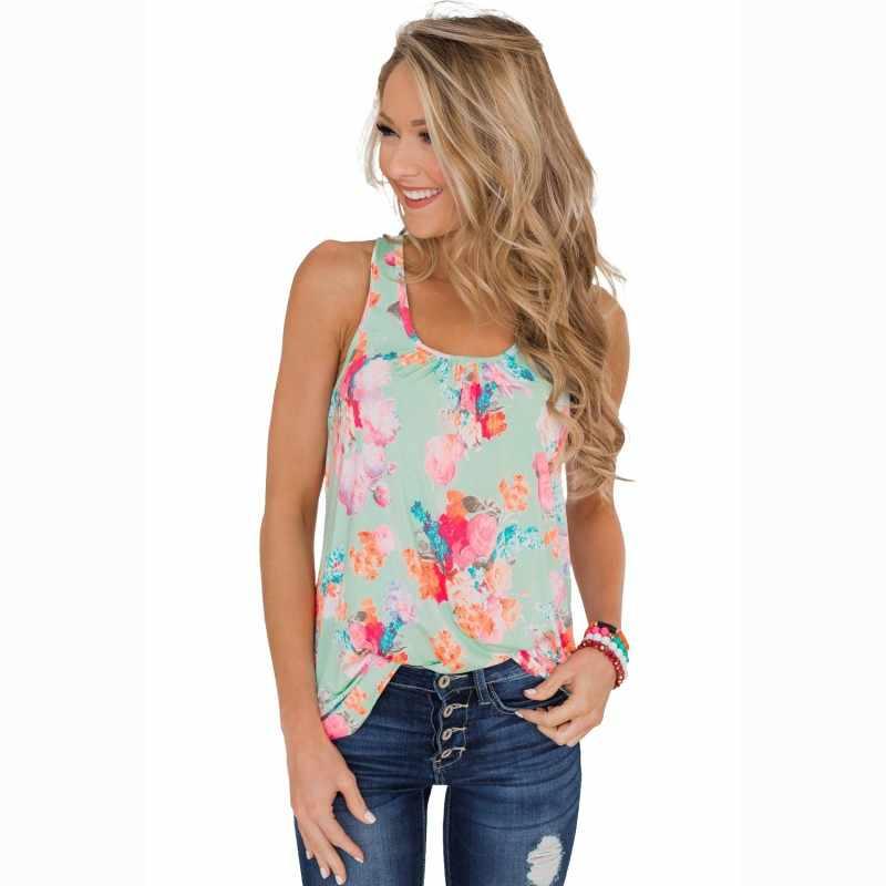 4fa09e7575a Zmvkgsoa рукавов Холтер женская блузка Винтаж с цветочным принтом летнее  для пляжа в богемном стиле рубашка