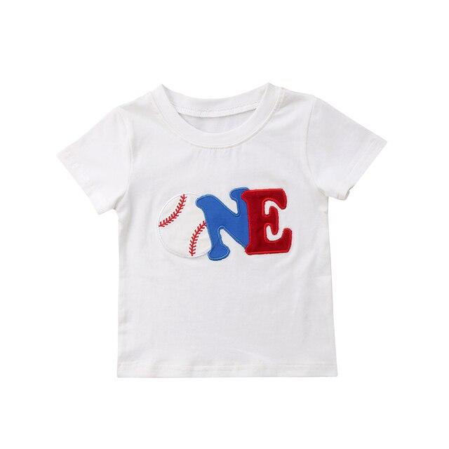 Eerste Verjaardag 1 Jaar Twee Jaar Babykleertjes Top T Shirt Baby