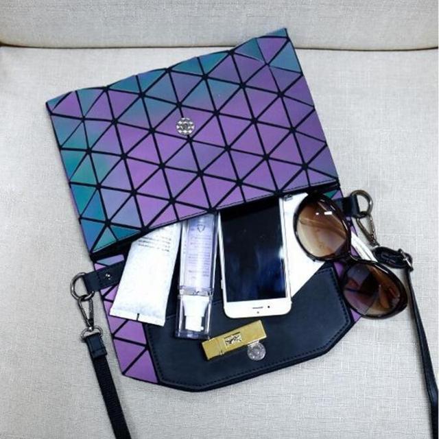 Glowing Geometric Design Mini Crossbody Women's Bag