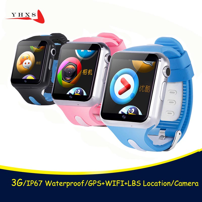 New 3G Wifi GPS LBS Tracker Children Smart Watch Touch Screen Security Fitness Monitor Smartwatch Camera SOS For iOS Android