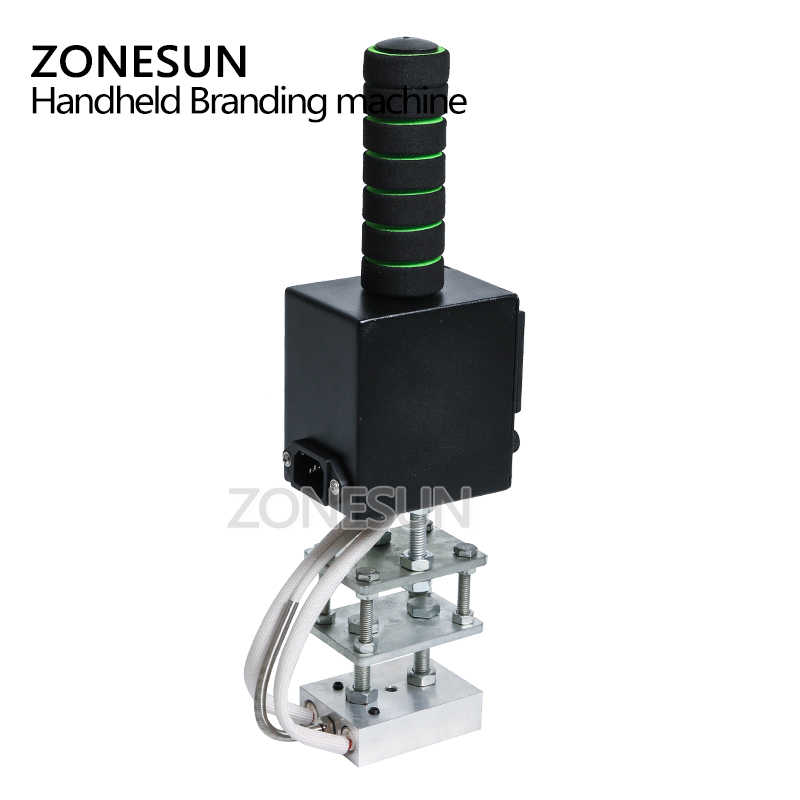 ZONESUN 5*7 см ручная штамповочная машина, принтер для кожи, биговальная машина, машина для горячего тиснения фольгой, маркировочный пресс, машина для тиснения