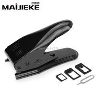 MAIJIEKE 2 In 1 Multi Function Stainless Steel SIM Card Cutter For IPhone SIM Micro Nano