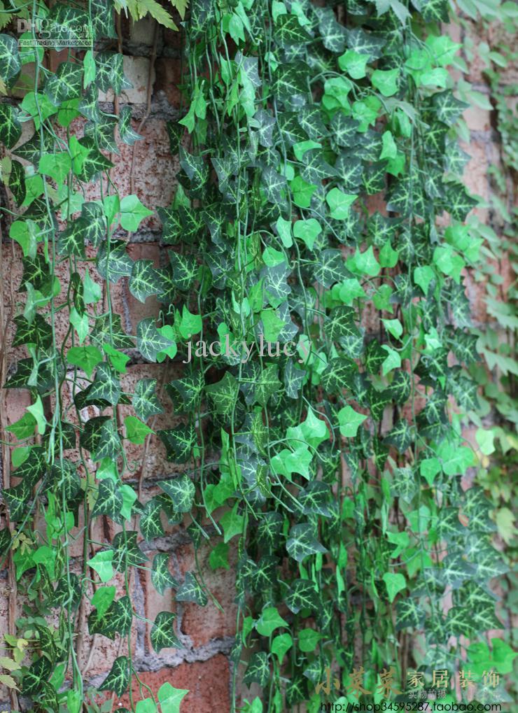 Neuheit Wohnkultur Wandbehang Pflanzen Reben Künstliche Klettern Ivy Rattan Für Weihnachtshochzeits-dekoration Lieferungen 288 mt/los