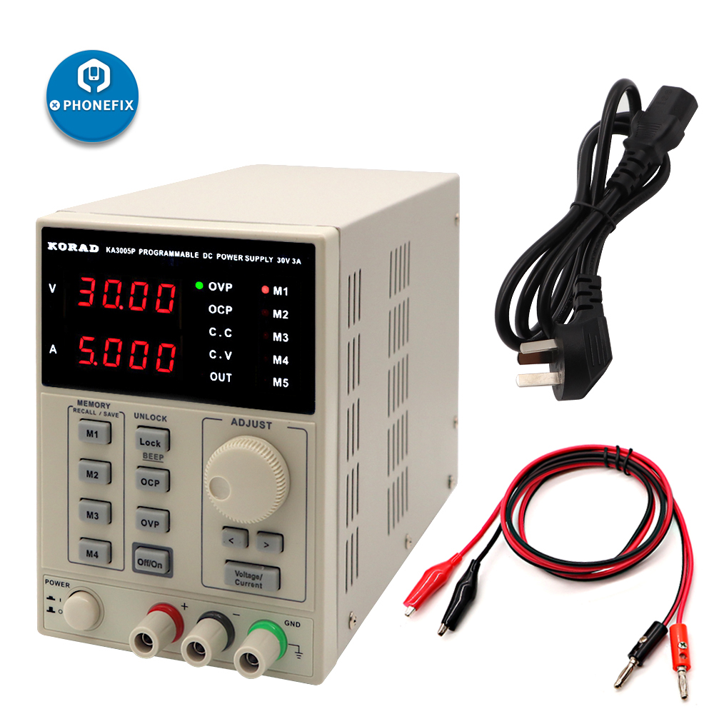 220 V 30 V 5A KORAD KA3005D régulé numérique DC alimentation de précision réglable alimentation pour réparation de téléphone, équipement de laboratoire
