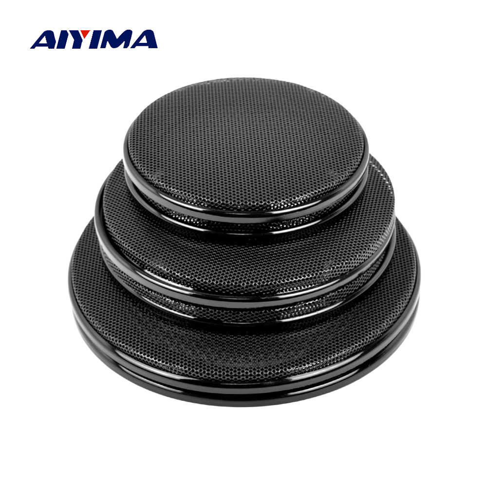 AIYIMA 2Pcs Audio Speakers Cover 4/5/6.5 Inch Protective Mesh Net Grille DIY For Car Speaker Net Cover