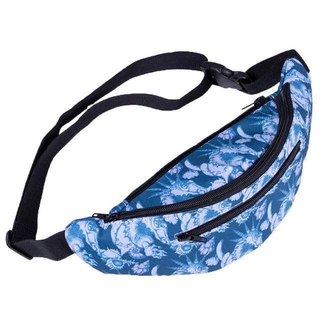 2018 Fashion Women Decorative Pattern fashion waist zipper bag women fanny packs belt bum bag waist Chest packs Travel Bag #40